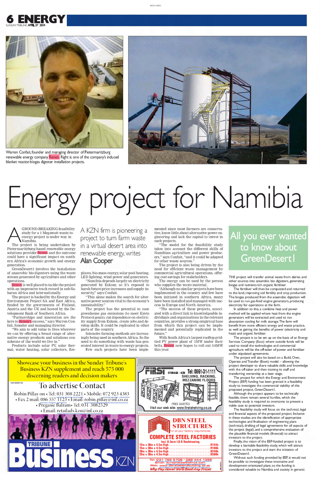 Energy Project for Namibia